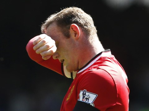 Wayne Rooney could be ruled out for Manchester United's final four Premier League matches through knee injury