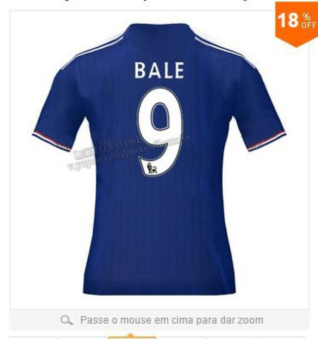 separation shoes 3b1fc a9311 Chelsea transfer news: Gareth Bale Chelsea shirts go on sale ...