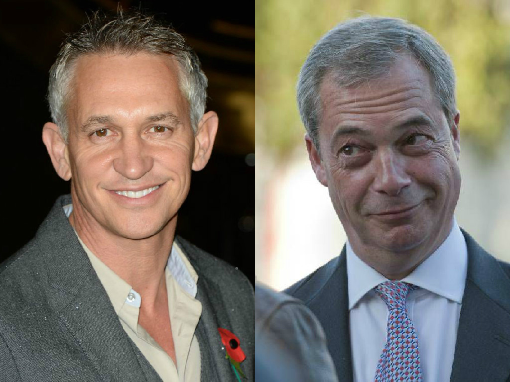 Gary Lineker calls Nigel Farage a 'd**k' after his comments on HIV