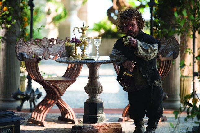 Tyrion Lannister (Peter Dinklage) in Game Of Thrones season five, episode 1: The Wars To Come