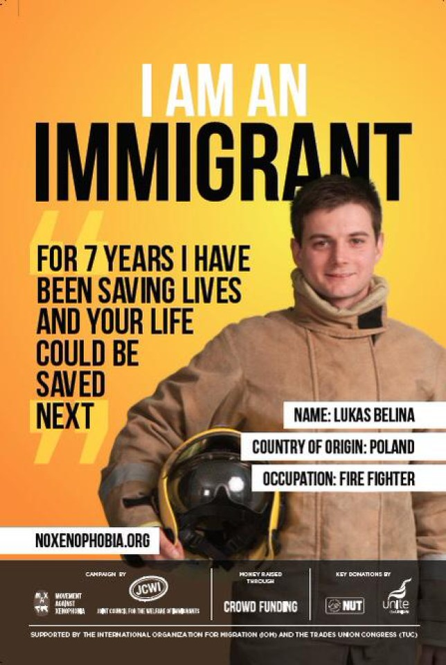 """The """"I am an immigrant"""" campaign was launched by Movement Against Xenophobia, part of the Joint Council for the Welfare of Immigrants (Picture: Joint Council for the Welfare of Immigrants)"""