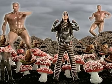 This clip of Jason Statham dancing in his pants in a Shamen video may cause your jaw to drop