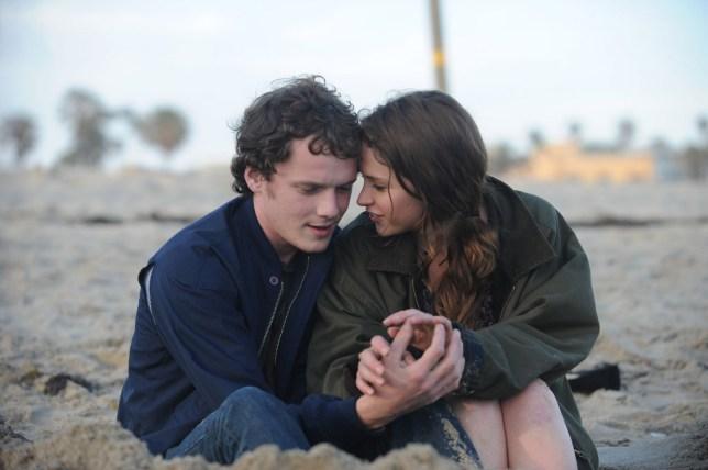 Couple sitting on beach, Like Crazy movie