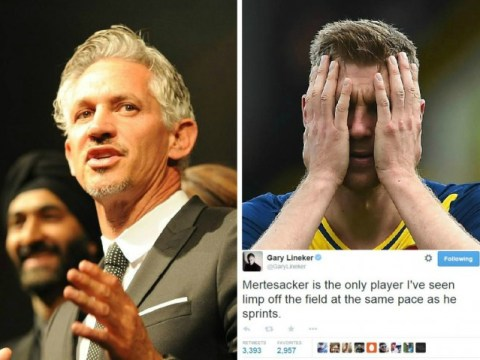 Gary Lineker trolls Arsenal's Per Mertesacker in epic fashion over his lack of pace against Reading