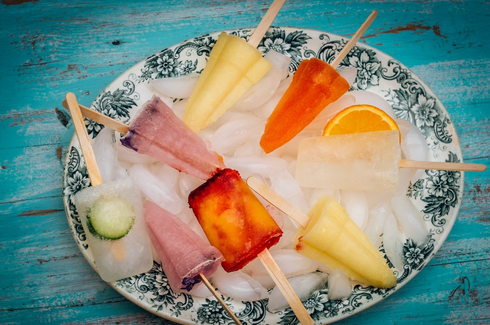 How to make ice lollies with alcohol