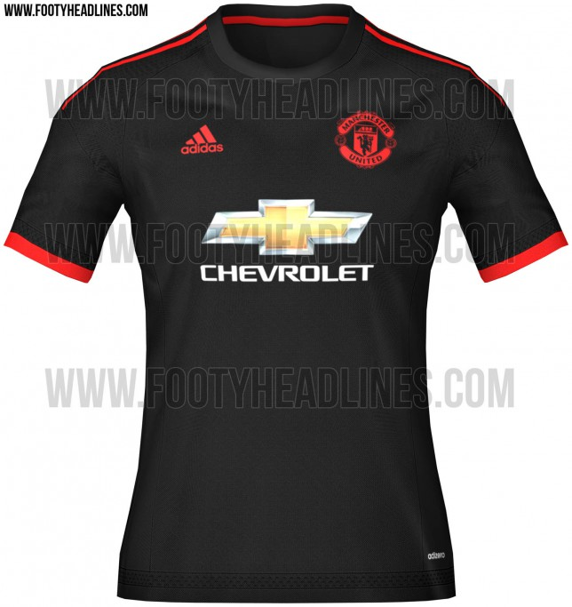 Man United's 2015/16 black third choice kit leaked, it's really gorgeous