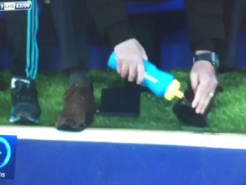 Jose Mourinho caught washing shoes during Chelsea's win v Leicester City, says it wasn't down to superstition