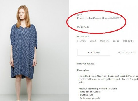 £250 to look like a peasant: Why this dress has got the internet VERY angry