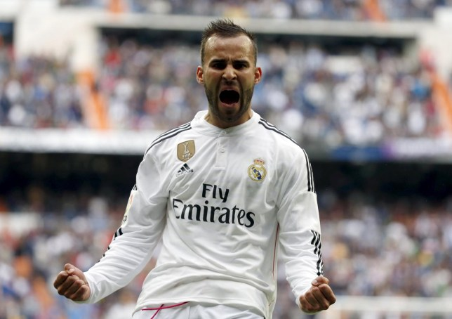 Real Madrid's Jese celebrates after scoring a goal against Eibar during their Spanish first division soccer match in Madrid Sergio Perez/Reuters