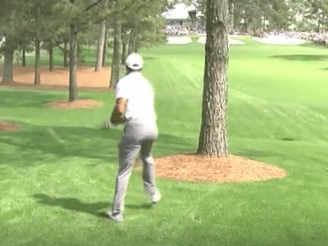 Tiger Woods rolls back the years with incredible Masters swerve approach shot on the 7th at Augusta