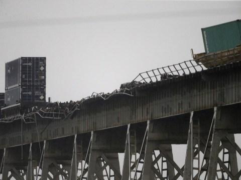 Train blown off bridge in extreme weather