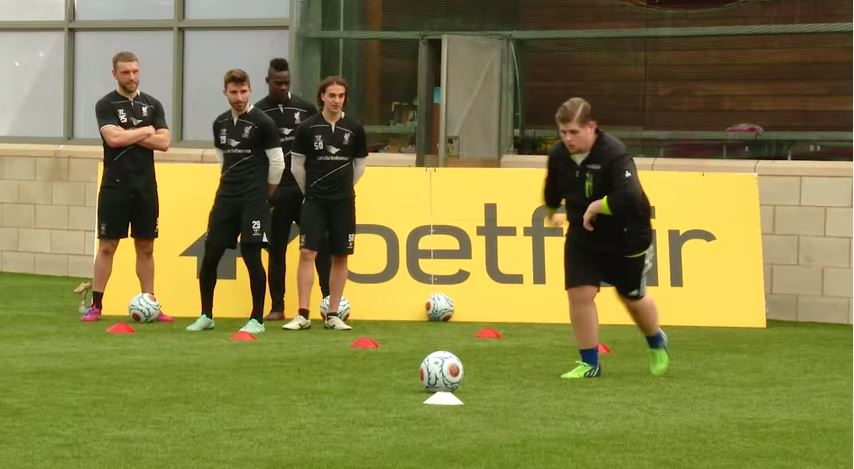 Mario Balotelli and his Liverpool teammates get outclassed by YouTube free-kick star Bas van Velzen