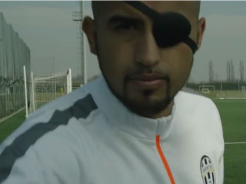 Andrea Pirlo and Arturo Vidal show off their Avengers superhero powers during Juventus training