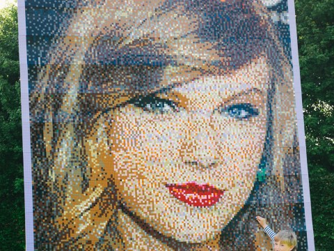 Check out this enormous Taylor Swift mosaic made entirely of Lego bricks