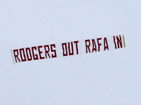 Plane banner urging Liverpool to replace Brendan Rodgers with Rafael Benitez flies over Anfield
