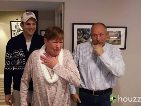 Awwwwww! Ashton Kutcher renovates his mum's entire house as a Mother's Day gift