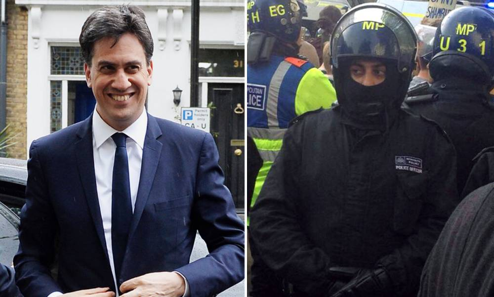 Is Ed Miliband working undercover as a police officer?