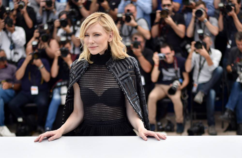 "Australian actress Cate Blanchett poses during a photocall for the film ""Carol"" at the 68th Cannes Film Festival in Cannes, southeastern France, on May 17, 2015.        AFP PHOTO / BERTRAND LANGLOISBERTRAND LANGLOIS/AFP/Getty Images"