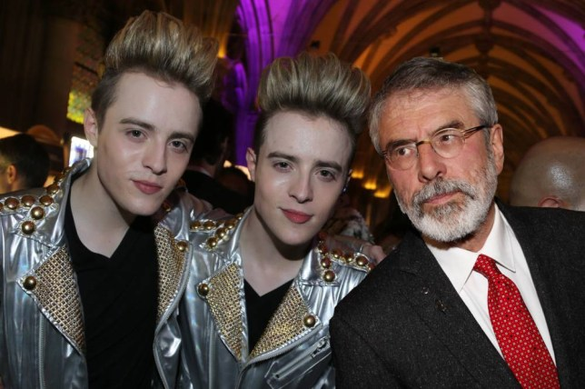 VIENNA, AUSTRIA - MAY 16:  John Grimes and Edward Grimes of the band Jedward attend the Life Ball 2015 after show party at City Hall on May 16, 2015 in Vienna, Austria.  (Photo by Thomas Niedermueller/Life Ball 2015/Getty Images)