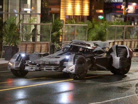 The Batmobile has been spotted on the set of Suicide Squad