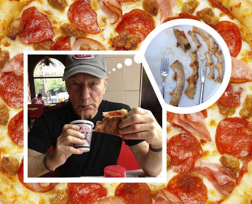 Patrick Stewart sparks minor Twitter incident with his pizza crust debate