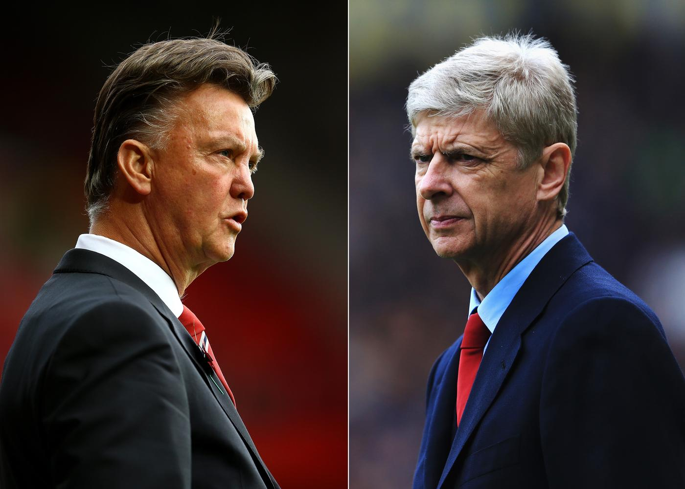 Arsene Wenger (right) thinks Louis van Gaal (left) will look to buy top players this summer