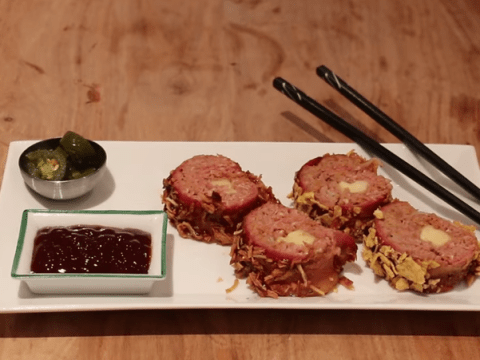 This is not a drill: Someone's made BBQ bacon sushi