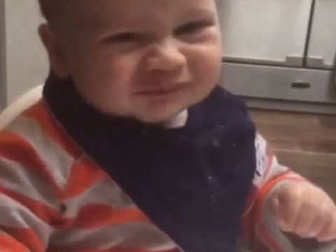 Cheryl shares adorable video of Kimberley Walsh's baby Bobby eating sour raspberries for first time