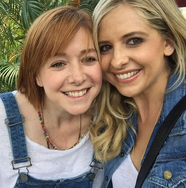 Sarah Michelle Gellar and Alyson Hannigan had a Buffy The Vampire Slayer reunion and it was too exciting for words