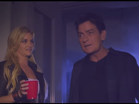 So many questions as to why Charlie Sheen has turned up in a music video dropping the f-bomb
