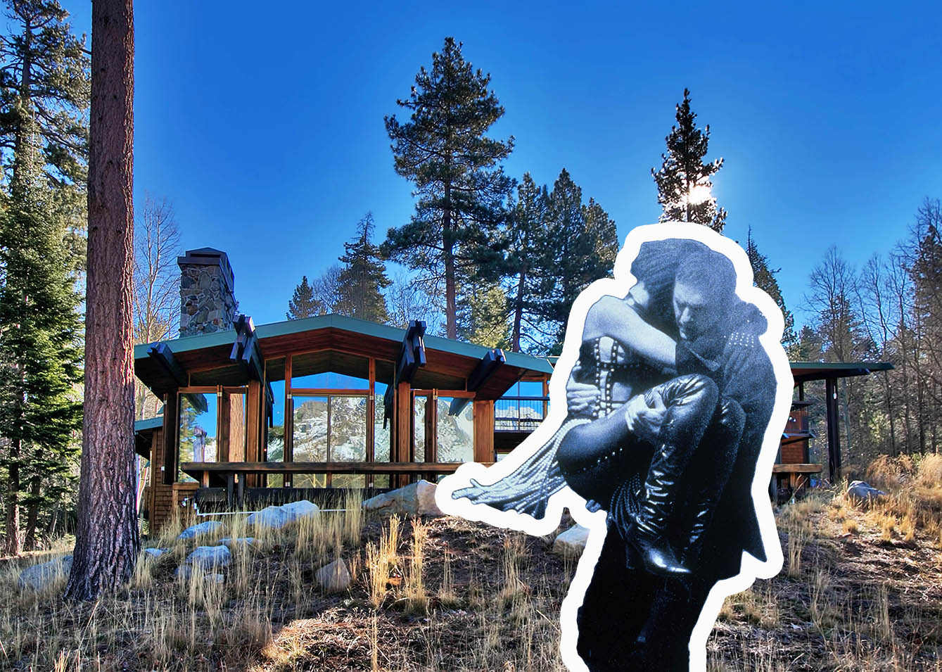 PIC BY 2VIEW MEDIA / CATERS NEWS - (PICTURED: The outside of the Fallen Leaf Lake House) - The stunning house used in Whitney Houstons classic The Bodyguard is on sale for a cool m (5.2m). Featured in the romantic thriller starring the late singer alongside Kevin Costner, the serene Fallen Leaf Lake home is believed to have been the real heartthrob of the 1992 film. Decked floor to ceiling in wood, the five bedroom retreat in California boasts lake views in EVERY room. Although it will set the buyer back a hefty sum they will also have private access to a 76ft pier, three acres of forest and a three-car garage. SEE CATERS COPY