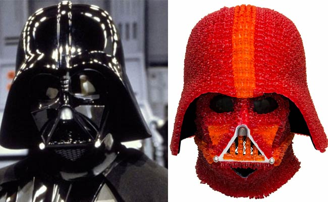 Someone has made Darth Vader's helmet from 1,000 gummy bears