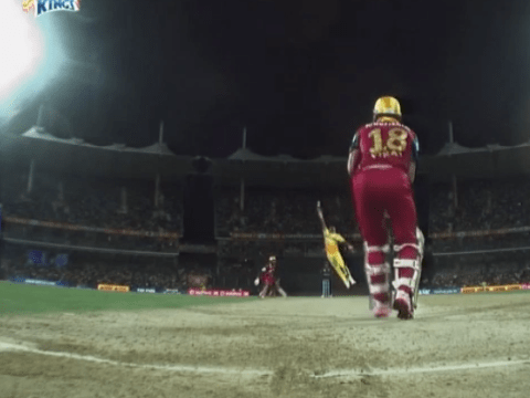 West Indian and Chennai Super Kings star brilliantly runs out Indian ace Virat Kohli in the IPL