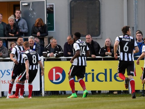 Watch Nathan Arnold hit two screamers for Grimsby against Eastleigh to take control of their Conference Premier play-off tie