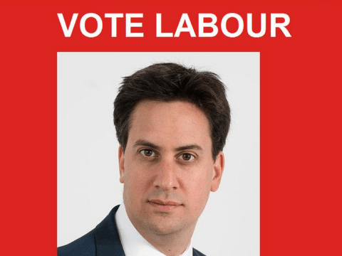 Someone changed David Cameron's Wikipedia page to a big 'Vote Labour' banner
