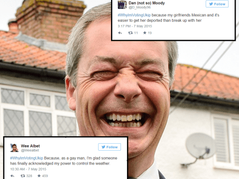 The #WhyImVotingUkip hashtag is back, and it's even funnier the second time round
