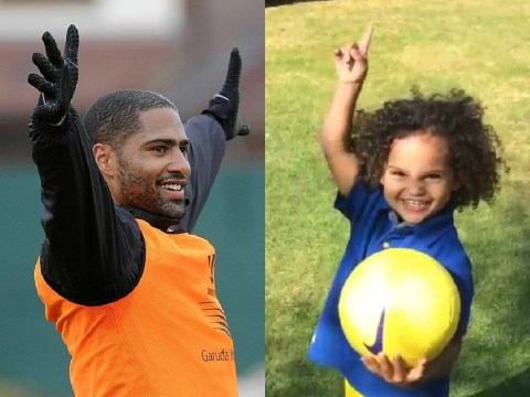 Liverpool defender Glen Johnson videos his son doing the cutest crossbar challenge ever