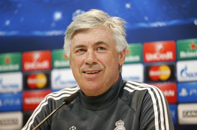 Football: Real Madrid coach Carlo Ancelotti during the press conference Juan Medina/Reuters