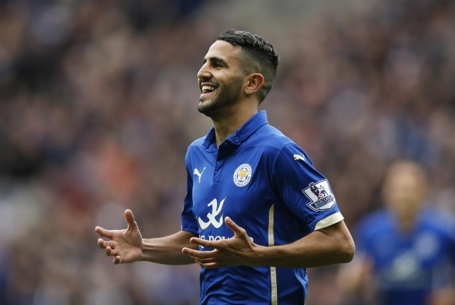 Riyhad Mahrez could leave Leicester in January (Picture:Reuters)
