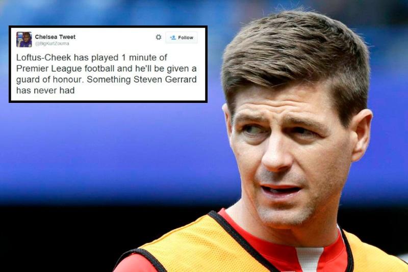 Chelsea debutant Ruben Loftus-Cheek has been given more guards of honour than Liverpool's Steven Gerrard