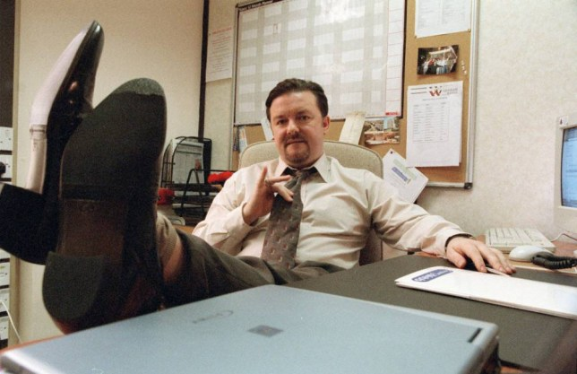 The Office - Series 2 Picture Shows: Ricky Gervais as David Brent Series Two of the BAFTA winning comedy, the painfully accurate portrait of the modern work-place that leaves you either counting your blessings or questioning your career. David Brent tries to assimilate the new Swindon intake, a group of well-trained and highly motivated personnel. It should be an easy job. Sadly, someone forgot to tell them they're meant to laugh at everything David says. Unlucky-in-love Tim finds his fortune changing, we discover there's more to demure Dawn than first meets the eye, but there's even less to Gareth.