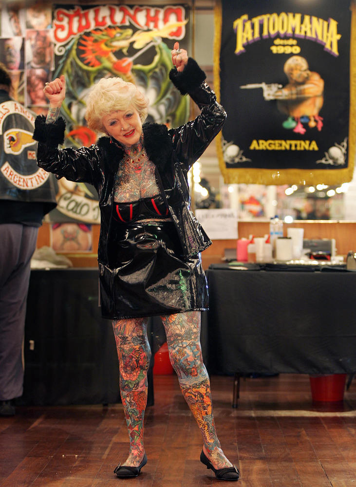 World's most tattooed pensioner dies after battle with Alzheimer's disease