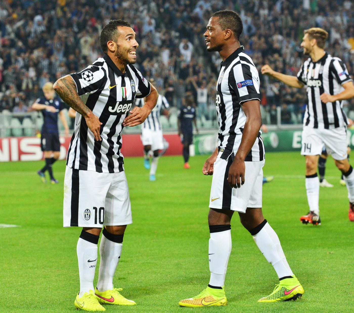 Patrice Evra says Juventus' win over Real Madrid is down to his and Carlos Tevez's 'Manchester United blood'