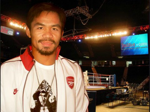 Manny Pacquiao is a Gooner! Arsenal fans now know who to support in Mayweather v Pacquiao