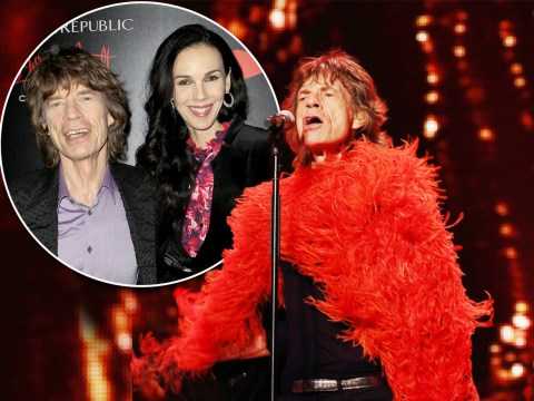 Mick Jagger pays tribute to L'Wren Scott by wearing one of her designs