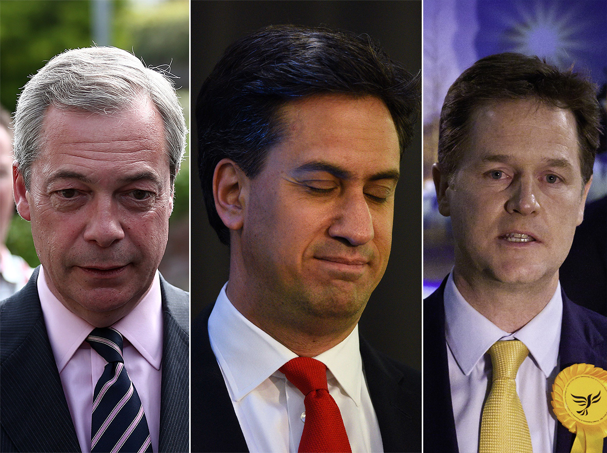 Nick Clegg, Ed Miliband and Nigel Farage all quit as leaders of their parties