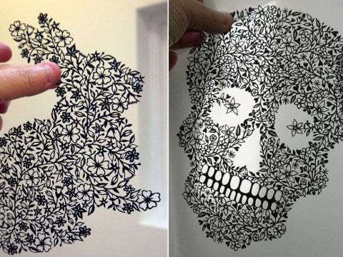 Artist creates beautiful paper-cut art out of single sheets of paper