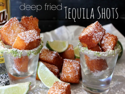 Deep fried tequila, salt, and lime shots are what your weekend is missing