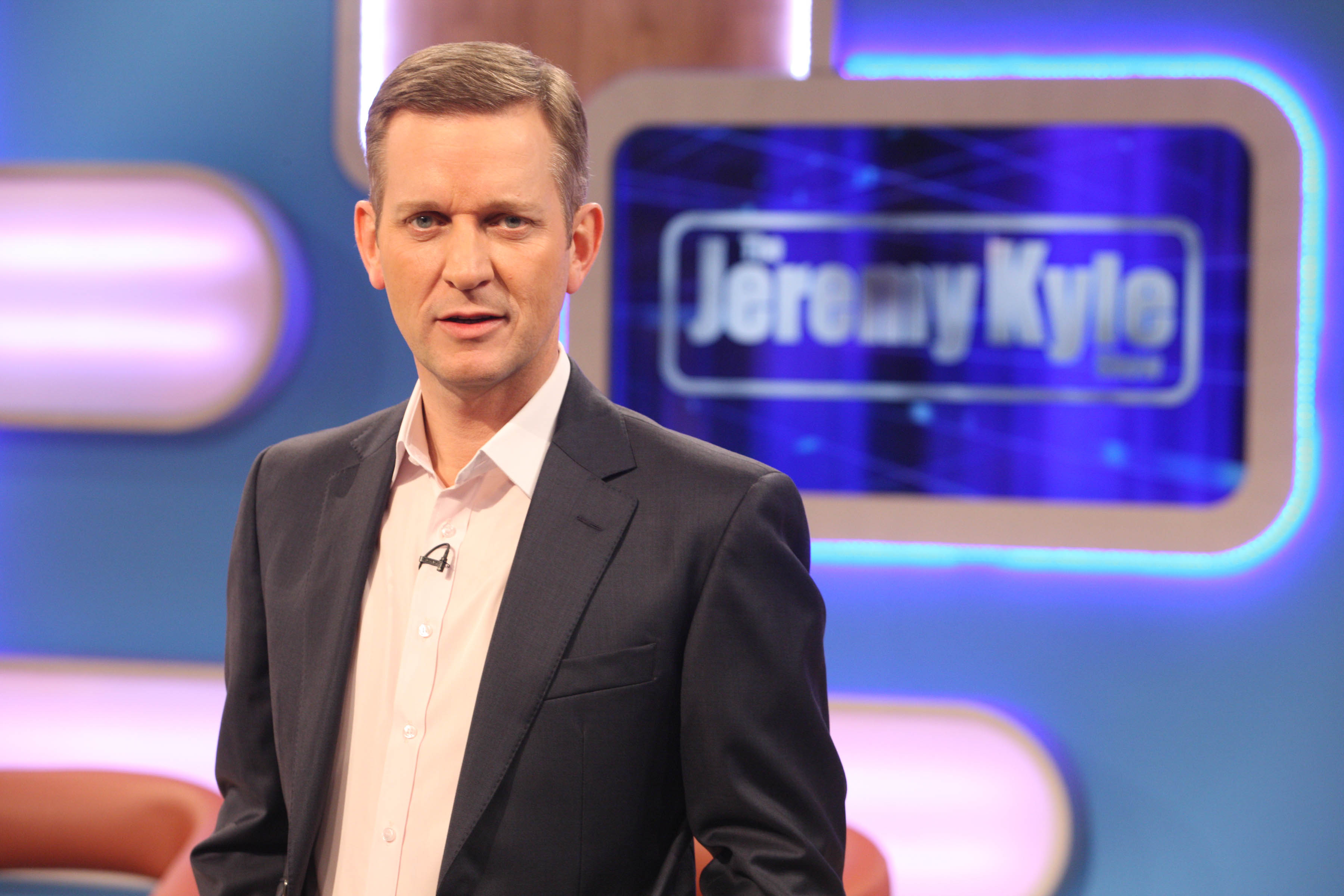 From: ITV PRODUCTIONS FOR ITV1 THE JEREMY KYLE SHOW - weekdays on ITV1 The hard hitting and plain-speaking radio agony uncle, JEREMY (Jezza) KYLE hosts the daytime talk show weekly on ITV1. The Jeremy Kyle Show helps the public get to grips with real-life issues, ranging from indiscretions and infidelities to fetishes and flirting, in a show that brings real-life issues and dilemmas for Jeremy to deal with. Picture shows: JEREMY KYLE ITV Picture contact - peter.gray@itv.com 0207 157 3046  This photograph is (C)ITV Plc and can only be reproduced for editorial purposes directly in connection with the programme or event mentioned above, or ITV. Once made available by ITV Plc Picture Desk, this photograph can be reproduced once only up until the TX date and no reproduction fee will be charged. Any subsequent usage may incur a fee. This photograph must not be syndicated to any other publication or website, or permanently archived, without the express written permission of ITV Plc Picture Desk.