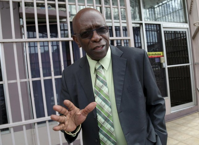 Trinidad and Tobago's former National Security Minister and former FIFA Vice President, Jack Warner, gestures after leaving the offices of the Sunshine Newspaper which he owns, in Arouca, East Trinidad Andrea De Silva/Reuters